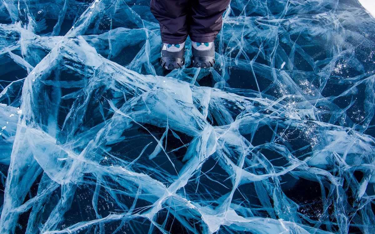 Лед Байкала Уголки Сибири